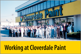 Working at Cloverdale Paint