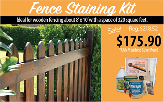 Cloverdale Paint exterior fence staining kit