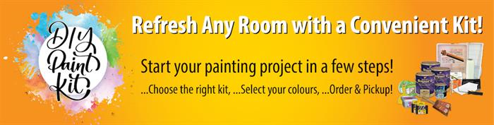 Refresh any room with a convenient Paint Kit!