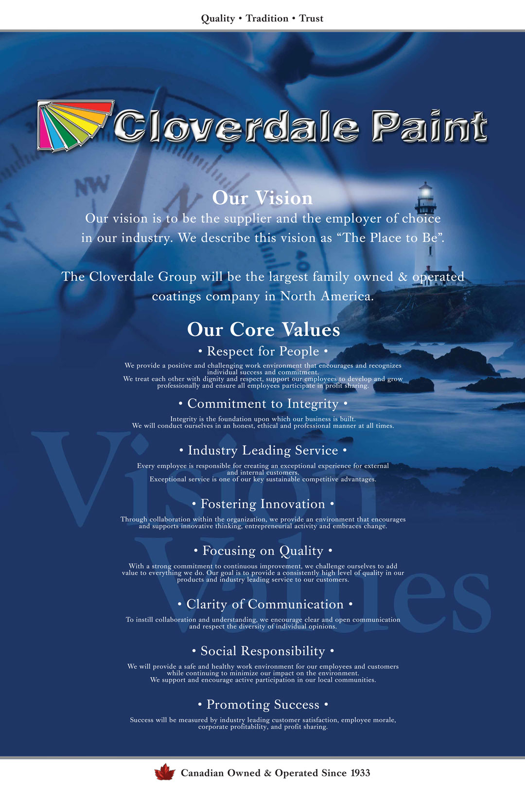 Our Vision & Our Core Values
