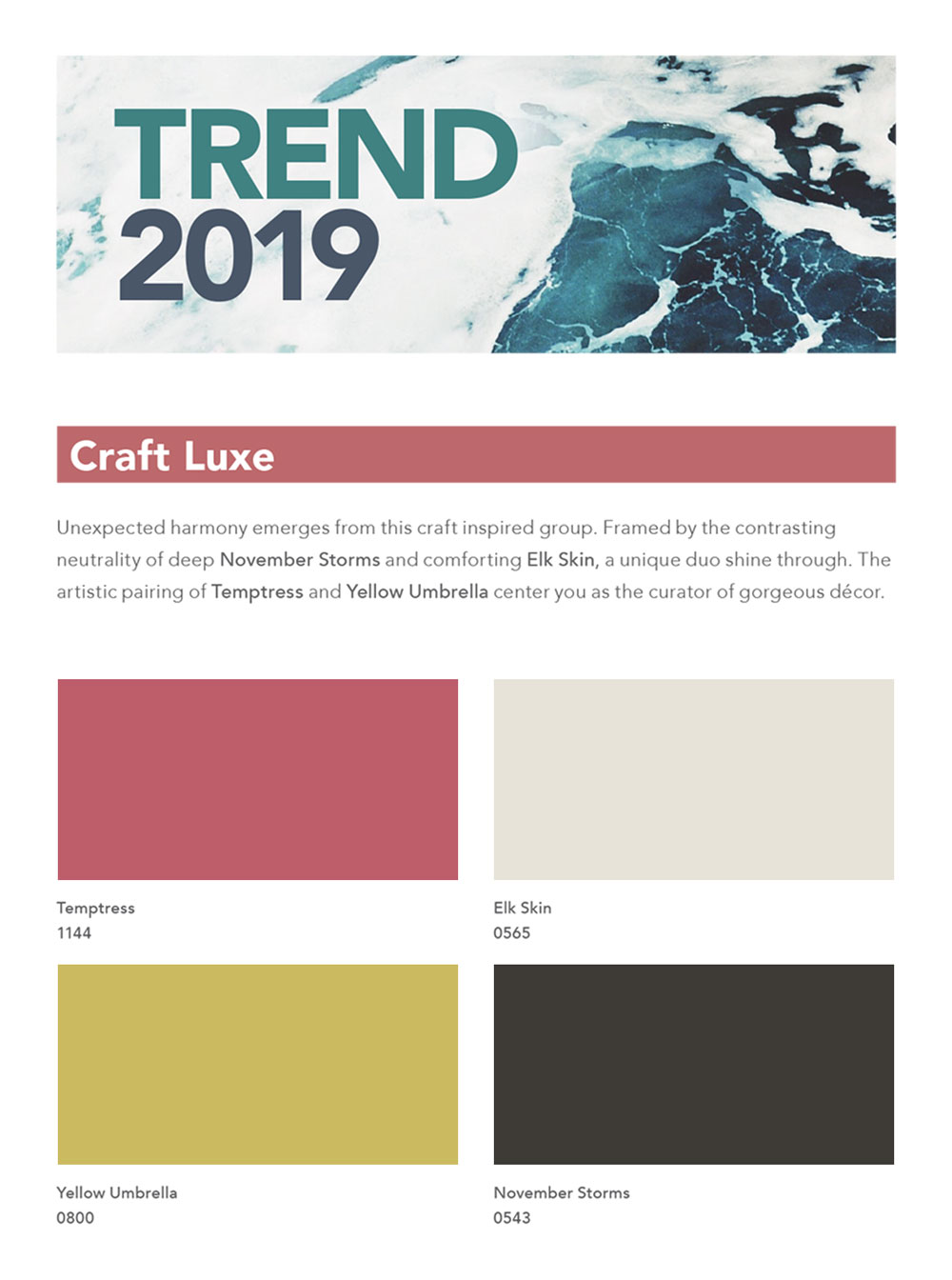 2019 Trends Craft Luxe