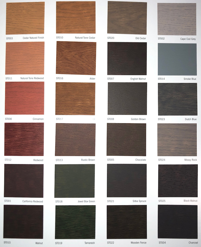 WeatherOne Semi-Transparent Wood Stain Colours