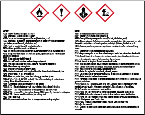 WHMIS2015 Pictograms from a label