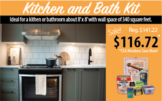 Cloverdale Paint kitchen and bath DIY paint kit