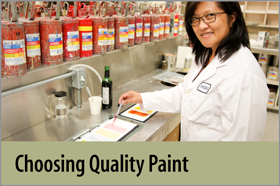 Choosing Quality Paint